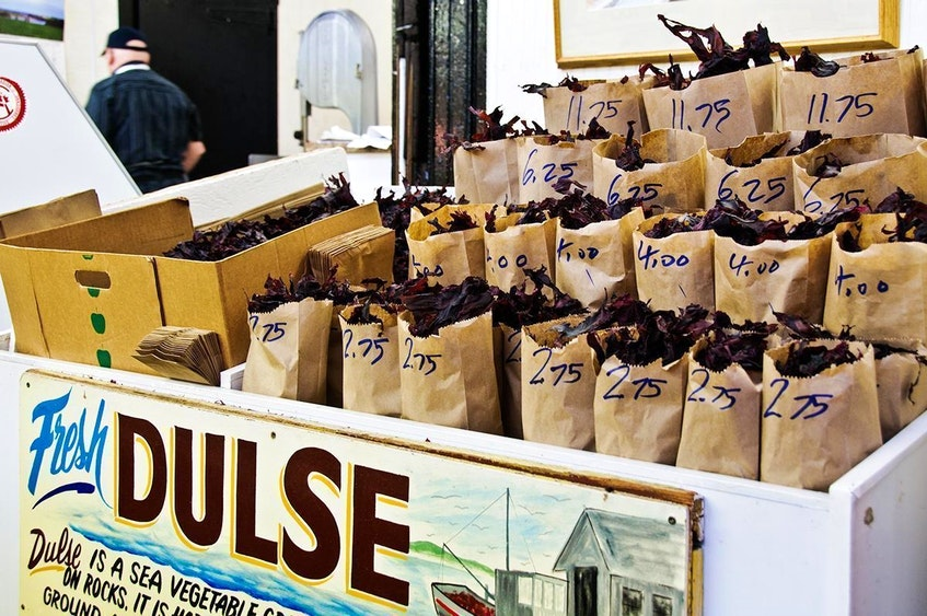 Dulse - made of dark red seaweed that is dried - becomes a crispy, chip-like snack. - St. John City Market photo - Saltwire network