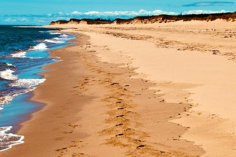 Singing Sands beach in Prince Edward Island got its name from the fine sand - so fine that it squeaks as you walk on it. - Heather Ogg photo