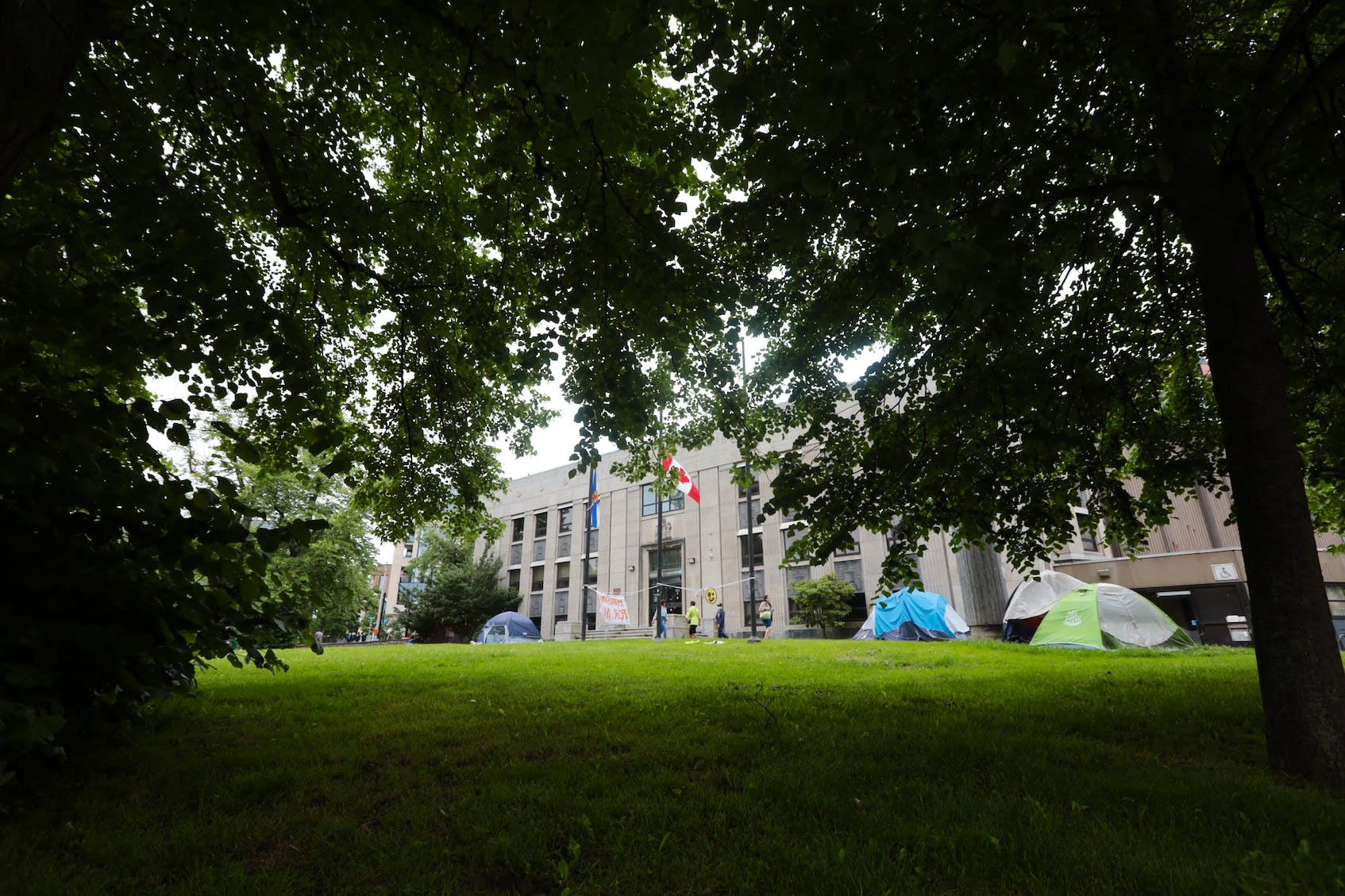 Multiple tents are seen in Halifax on July 6, 2021. According to the latest figures from the Affordable Housing Association of Nova Scotia, 393 people in HRM are currently experiencing homelessness. - Eric Wynne / File