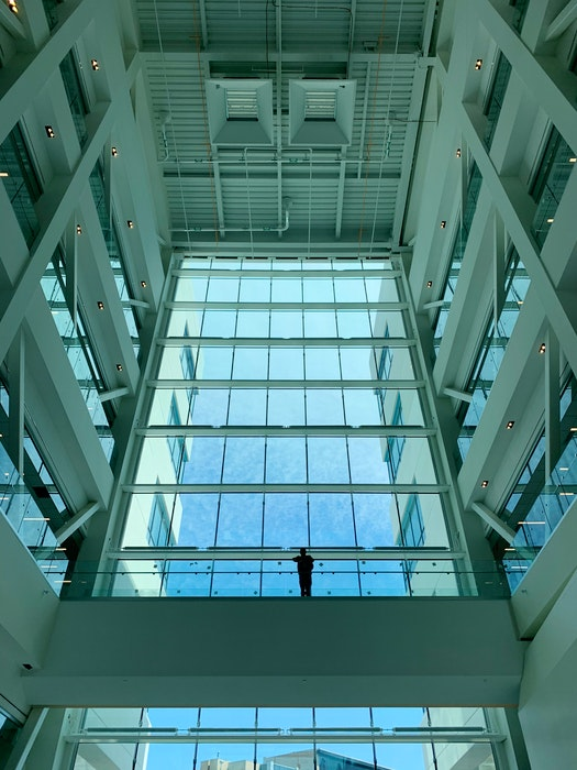 A view of the main atrium at Memorial University's new core science building, which will open in the fall. - Andrew Robinson