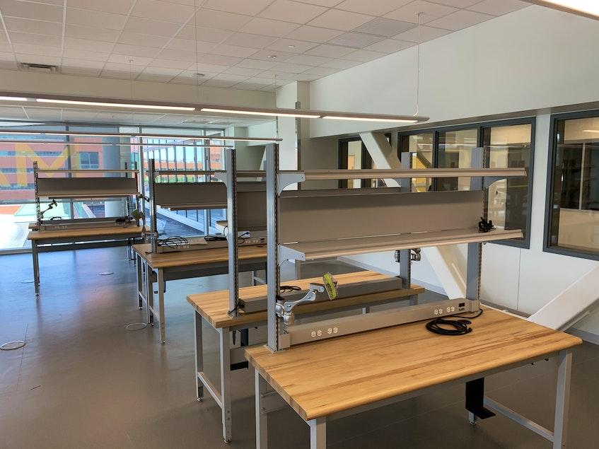 The new senior design studio for Memorial University's computer engineering program. - Andrew Robinson
