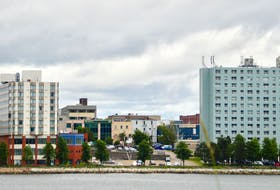 Part of the Sydney skyline as it appears from the Westmount side of the harbour. Business owners and community leaders are hoping for a return to prosperity in Cape Breton Regional Municipality's largest downtown. DAVID JALA/CAPE BRETON POST