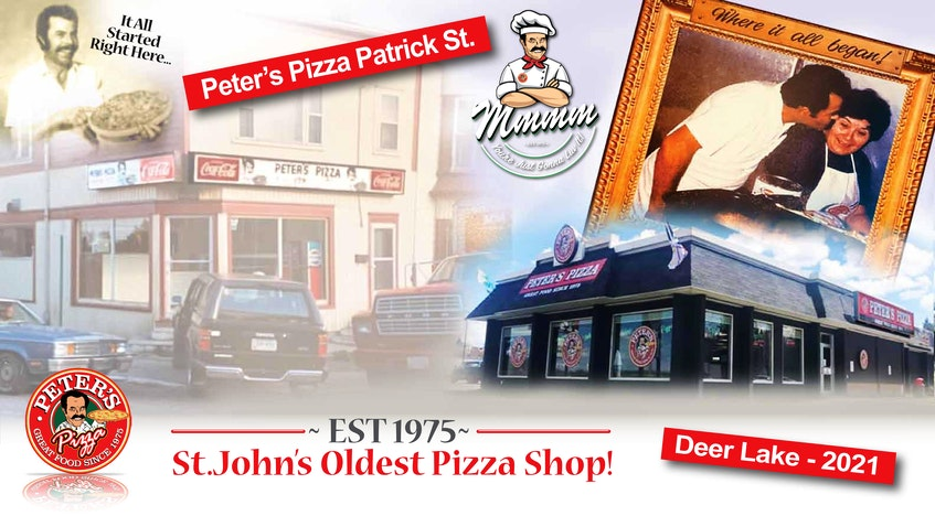 Peter's Pizza is St. John's oldest pizza shop. John Mathioudakis is celebrating its 46 years and offering customers a special, as a thank you for their support. - Photo Contributed.