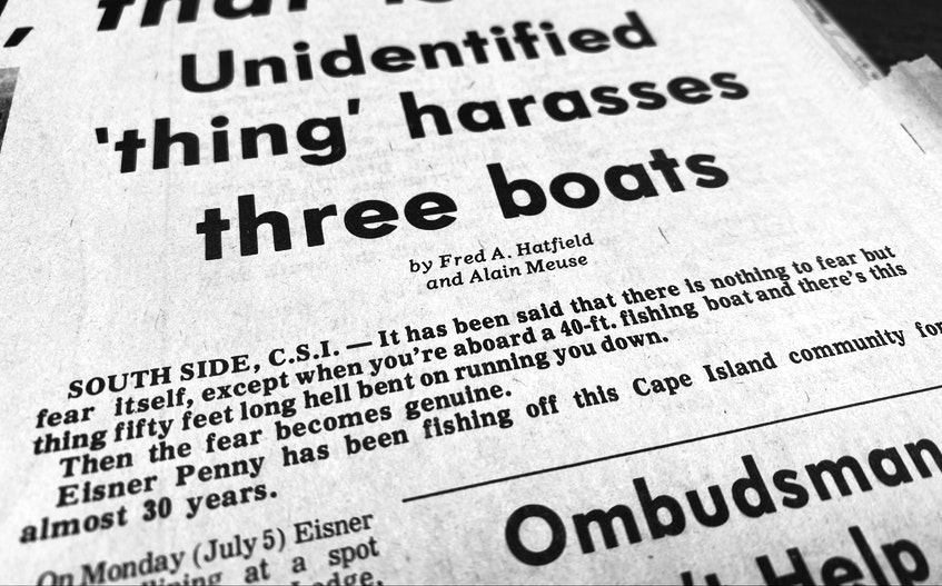 As reported in the 1976 Yarmouth Vanguard. - FIle photo