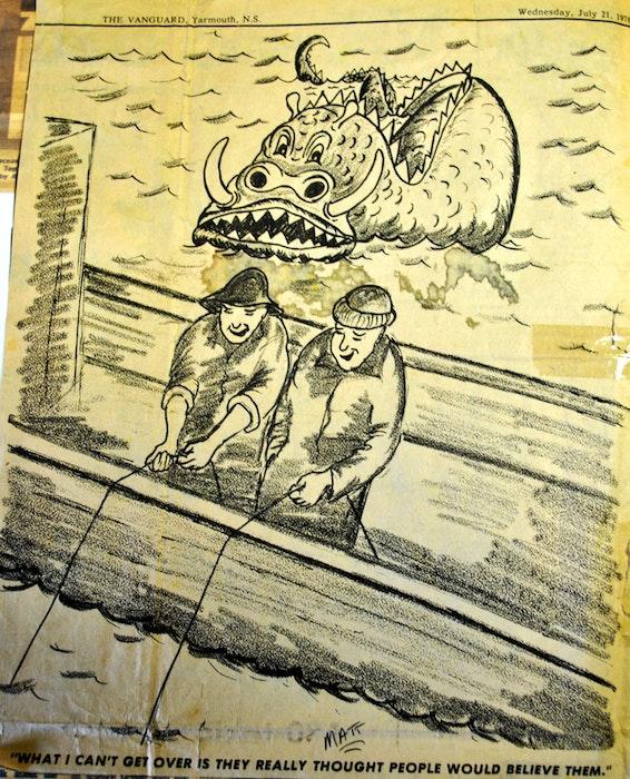An editorial cartoon in the July 21 1976, Vanguard.