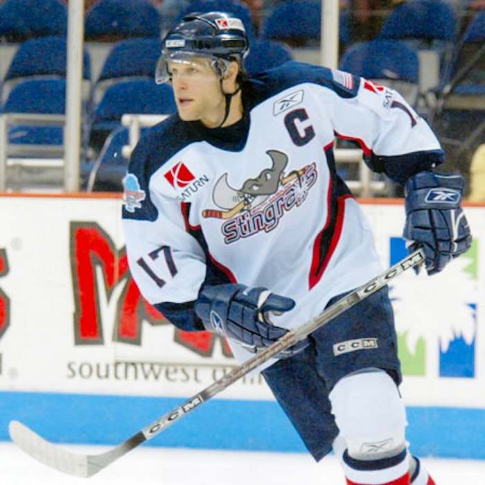 Kyle McClain ended his football career as captain of the ECHL Carolina Stingray.  - Contributed
