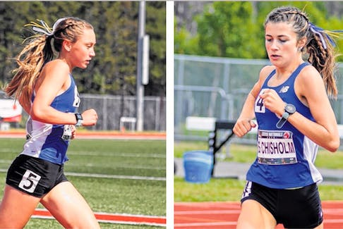 Mairin Canning, left, and Siona Chisholm are high-level cross-country/track and field athletes who will attend St. F.X. University in the fall. The teenagers have been running together since elementary school, and during the past two years, have been the top two cross-country high school runners in the province.