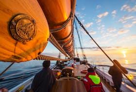 Aboard the Bluenose ll. COMMUNICATIONS NOVA SCOTIA PHOTO