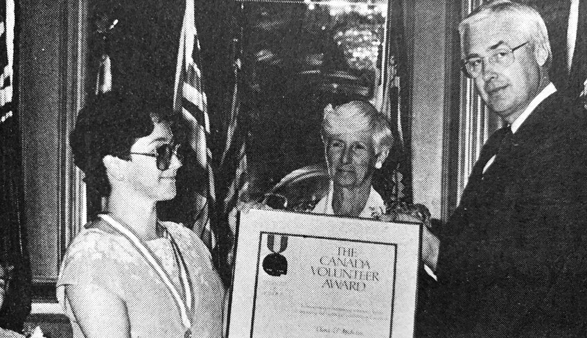Windsor's Clara Michelin travelled to Ottawa in 1986 to receive the Canada Volunteer Award from Health and Welfare Minister Jake Epp. It was noted she had made a remarkable contribution to promoting health in the region. - File Photo