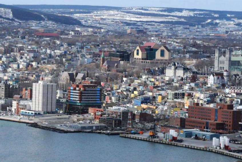 A view of downtown St. John's from Signal Hill.