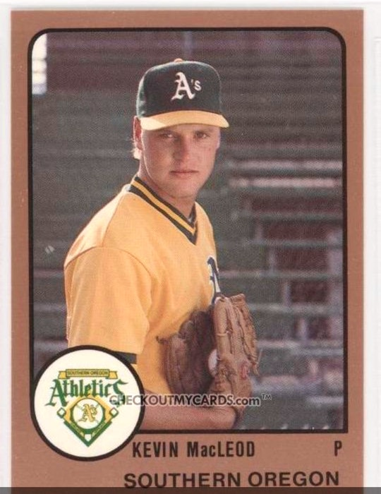 Sydney native Kevin MacLeod was drafted by the Oakland Athletics in the 10th-round of the 1987 MLB Draft. His son, Christian, is eligible for this year's MLB Draft out of Mississippi State University. CONTRIBUTED - Contributed