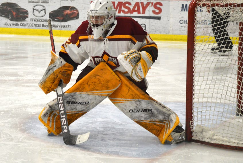Lucas Fraser will be one of several Cape Breton players hoping to hear his name called at the Maritime Junior Hockey League Entry Draft today. JEREMY FRASER • CAPE BRETON POST