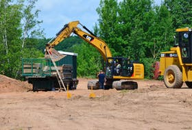 Upgrades to service roads have been completed and a temporary weighing and loading area is being constructed as part of a multi-million-dollar regional sewage treatment plant upgrade in New Minas. KIRK STARRATT