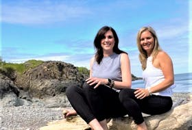 June Pardy, left, and her business partner Jenny Gunn-Sinclair are two members of a team of five that put forward a proposal for a new development project in Baxters Harbour for a Nordic spa and retreat. They hope it will bring tourism to the community.