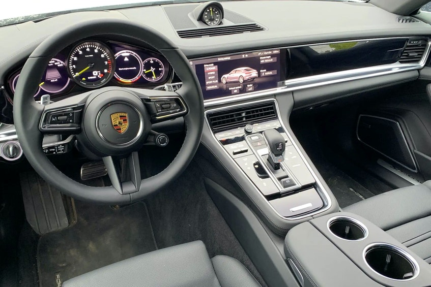 The Porsche Panamera Hybrid's interior is a dandy place in which to spend time. Postmedia News - POSTMEDIA