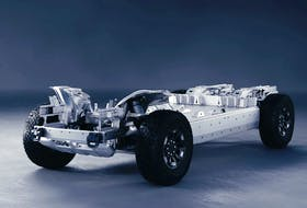 Compared to its lithium-ion rival, an aluminum-air battery could potentially be cheaper, safer and vehicles using it would have a longer range. Pictured is GM's Ultium battery-vehicle platform, which would use a lithium battery. Handout/General Motors