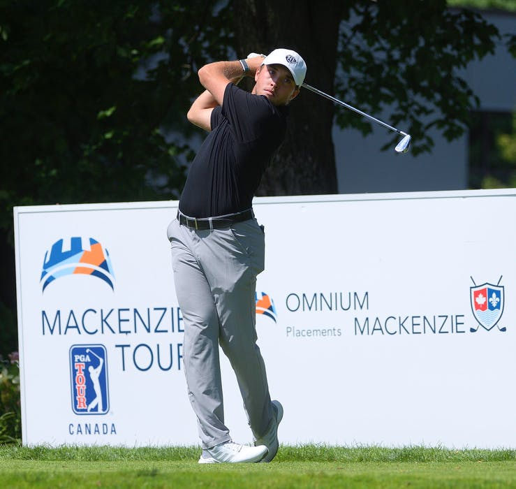 Blair Bursey is playing on the Mackenzie Tour — originally known as PGA Canada — on a conditional exemption earned at the Tour's qualifying event earlier this year. — Mackenzie Tour/Roger Lauzon