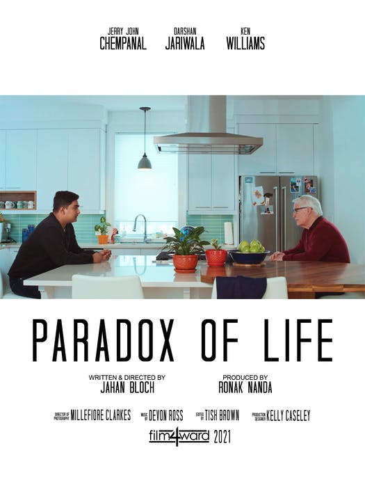 Jahan Bloch also received funding last year to make a short film called Paradox of Life.