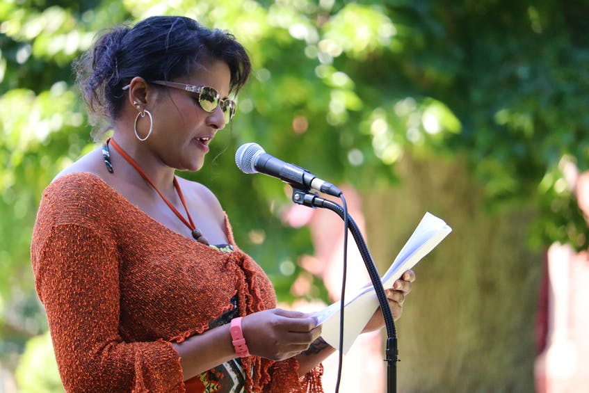 Debbie Langston reads from her Island Literary Award-winning essay about Black History Month at P.E.I.'s first Emancipation Day, a day recognizing the end of slavery in the British Empire. - Logan MacLean