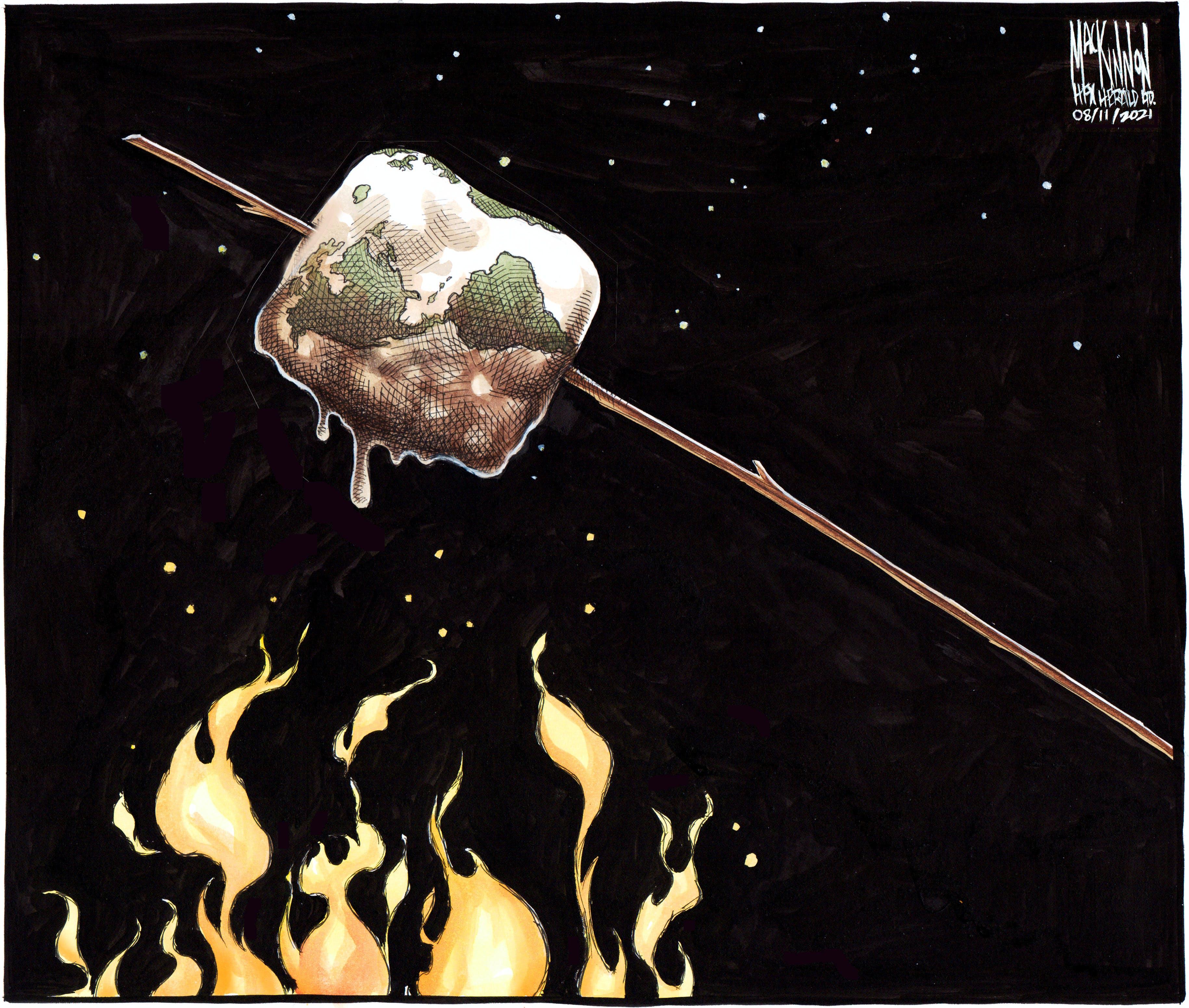 Bruce MacKinnon's editorial cartoon for August 11, 2021.