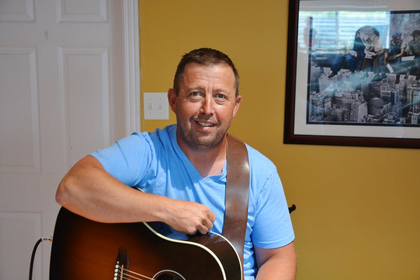 Clarke's Beach musician Todd Barteau is in the final stages of producing his first album of recorded material called 'Things I Remember.' - Nicholas Mercer