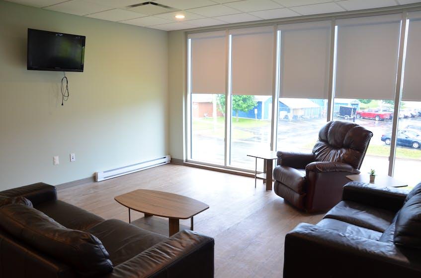 The living room in the new Chrysalis House shelter facility in Kentville. KIRK STARRATT