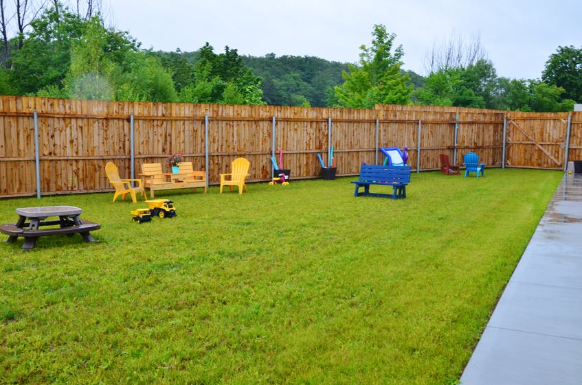 The new Chrysalis House shelter facility in Kentville features a spacious, fenced-in back yard. KIRK STARRATT