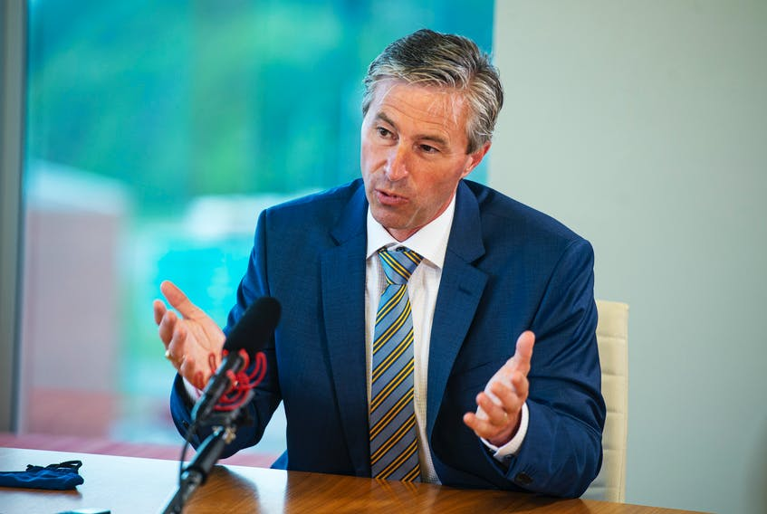 Progressive Conservative leader Tim Houston attends an editorial board meeting at the Chronicle Herald on Thursday, July 22, 2021. Ryan Taplin - The Chronicle Herald