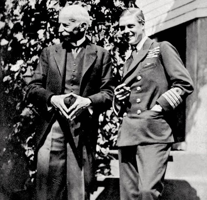 H.R.H. Prince of Wales (right) with Lieutenant Governor of Nova Scotia, MacCallum Grant, Halifax, Nova Scotia, 1919. - Nova Scotia Archives