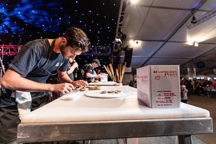 Liam Dolan says the PEI International Shellfish Festival's oyster shucking competition has long been a festival favourite. - Photo Courtesy Alex Douglas photo