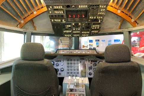 Visitors can climb inside the flight deck of a BAE 146 when visiting the Atlantic Canada Aviation Museum, near the Halifax airport.