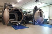 The autoclaves used to bake carbon-fibre at Pagani Automobili. David Booth/Postmedia News