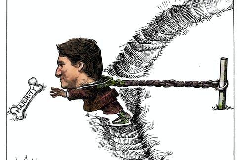 Michael de Adder's cartoon for Aug. 16, 2021.