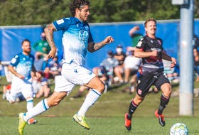 Joao Morelli has scored five of the HFX Wanderers' eight goals this season. The second-year forward from Brazil is tied for the league scoring lead with Marco Bustos of Pacific FC and Mo Babouli of Forge FC. - HFX WANDERERS