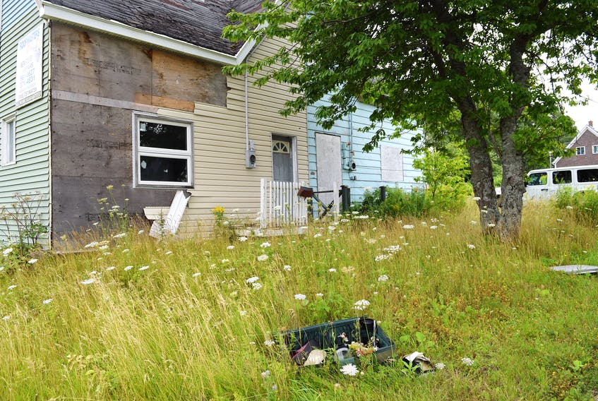 This company house at 226 Victoria Road, Sydney, is one of the 15 structures about to be demolished. Sharon Montgomery-Dupe/Cape Breton Post
