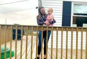 Julissa Stewart, shown with her daughter in River Bourgeois, N.S., has been frantically searching for a house to rent in Cape Breton's Richmond County, but finding a suitable, and affordable, place has been difficult.