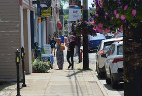 It's noon hour on Charlotte St. the day before the 41st provincial election. General voting opens today at 8 a.m. and polls close at 8 p.m. IAN NATHANSON/CAPE BRETON POST
