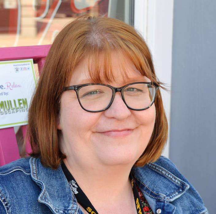 Robyn Burke of Glace Bay says health-care issues matter to her, so she is leaning toward voting for the PCs. — IAN NATHANSON/CAPE BRETON POST - Ian Nathanson