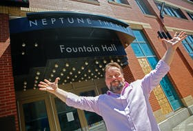 FOR COOKE STORY: Neptune Theatre director, Jeremy Webb, seen in front of the theatre in Halifax Monday August 16, 2021.  TIM KROCHAK PHOTO