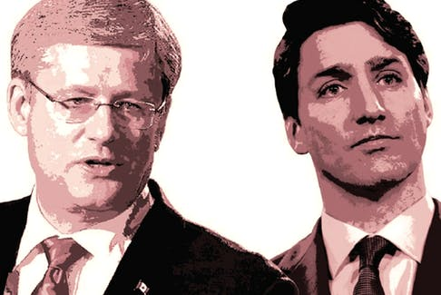 Stephen Harper and Justin Trudeau have approached their respective recessions in much the same way, albeit with different degrees of enthusiasm.