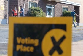 Voting was slow this morning at Ellenvale Junior High in Dartmouth but it's expected to pick up as the day goes along. Nova Scotians choose a new provincial government today. - Eric Wynne