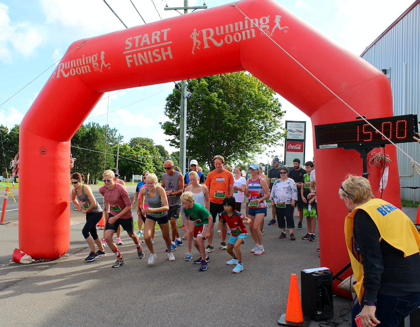 Runners participating in a previous edition of the Acadian Festival Road Race. The race this year will be held on Sept. 4 and begin at 9 a.m.   - Saltwire network
