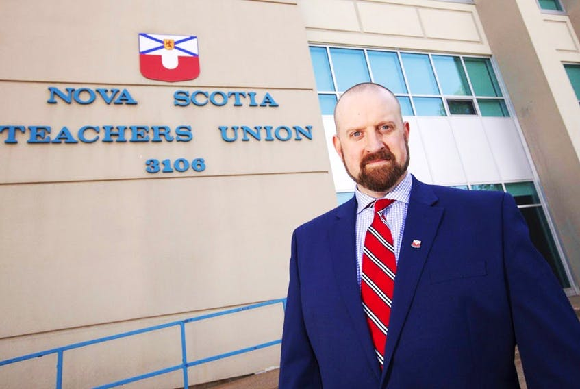 Paul Wozney, presidnet of the Nova Scotia Teachers Union, says there should be no rush to unmask students. --  Saltwire file photo