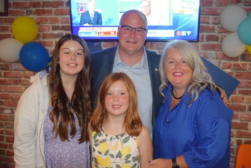 PC MLA Dave Ritcey said he is proud and thankful for his family - especially wife Amber and kids Addison and Alex. - Chelsey Gould