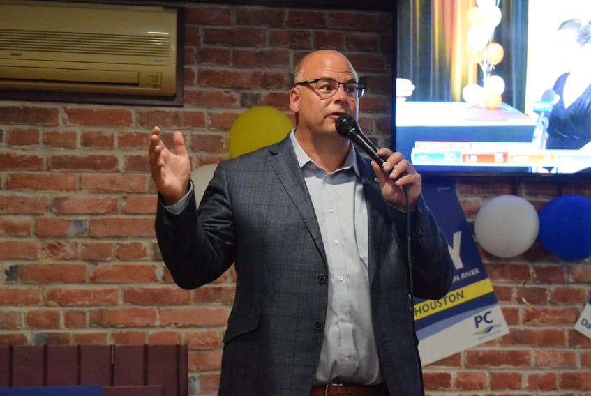 MLA Dave Ritcey gave his thank you speech and celebrated with PC supporters at The Blunt Bartender pub and eatery in Truro.