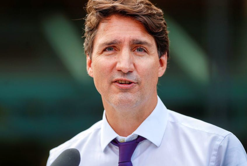 Prime Minister Justin Trudeau during his election campaign tour in Victoria, B.C., Aug. 19, 2021.