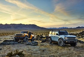 The 2021 Bronco two-door and four-door models are aimed directly at the core of the Jeep brand. Handout/FORD