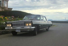 After attending a Hargerty Driving Experience program in Seattle, Cooper Philp of Victoria was hooked on older cars, and especially those with standard shift transmissions. Philp bought this 1965 Ford Fairlane for $2,000 in Edmonton. Contributed/Cooper Philp