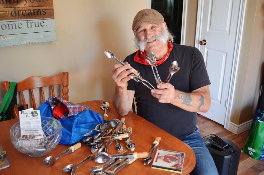 There is no shortage of spoons in Brendon Peters' house. In fact, every time his wife, Lynne, goes out and buys new spoons, Brandon is turning them into musical instruments. - Dave Stewart/The Guardian