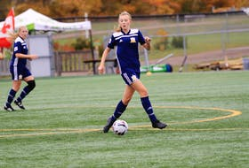 Elly Dobson of Summerside controls the ball for the P.E.I. Under-17 FC team at the 2019 nationals on P.E.I. Dobson, a 2021 graduate of Three Oaks Senior High School in Summerside, will play university soccer with the St. Thomas Tommies of the Atlantic Collegiate Athletic Association (ACAA) season this fall.